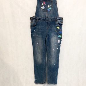Cat & Jack Bottoms - Cat & Jack Denim Paint Splatter Overalls